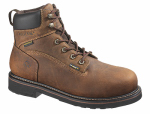 Wolverine Worldwide W10081 10.5M Brek Waterproof Boots, Medium Width, Brown Leather, Men's Size 10.5