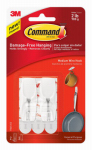 3M 17065-ES Command Toggle Hook, White, 2-Pk.