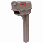 Solar Group GGC1M0000 Gentry Combo Mailbox + Newspaper Holder, With Post, Mocha
