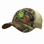 J America 13080345MO00 Mesh Cap, John Deere Logo, Mossy Oak, One Size