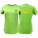 J America 23000001AG07 2XL GRN Ladie T-Shirt