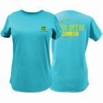 J America 23000001TQ07 2XL Turq Ladie T-Shirt