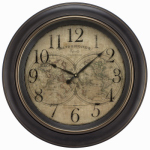 La Crosse Technology 20837 World Map Wall Clock, 12-In.