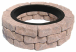 Oldcastle 70580366 Peyton Blend Flagstone Fire Pit Patio Block Project Kit