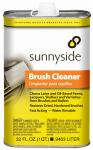 Sunnyside 70932 Water-Rinsable Brush Cleaner, 1-Qt.