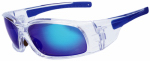 Safety Works SWX00211 Blue Diamond Safety Glasses, Mirror Blue Lens