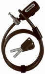 Wordlock CL-601-BK Bicycle Cable Lock, Black, Keyed, 8-Ft.