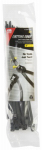 Gardner Bender 45-308UVBSC Cable Ties, Self-Cutting, Black, 8-In., 20-Pk.