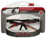 3M 47090-WZ4 Safety Glasses, Black/Red