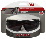 3M 47091-WZ4 Performance Safety Glasses, Black/Red