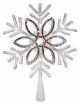 Noma/Inliten-Import V49420-88 Christmas Tree Topper, Acrylic Snowflake, 10-In.