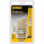 Dewalt Accessories DD5155 Titanium Impact Drill Bit Set, 5-Piece