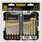 Dewalt Accessories DD5160 Titanium Impact Drill Bit Set, 10-Piece