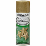 Rust-Oleum 267689 Specialty Glitter Spray Paint, Gold, 10.25-oz.