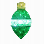 National Tree Co-Import DF-035040U-T LED Christmas Ornament Lawn Decoration, Green, 20-In.