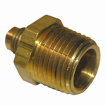 Larsen Supply 17-4813 1/4x3/8 MPT Brass Adapter