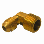 Larsen Supply 17-4931 3/8FLx3/8MPT Brass Elbow