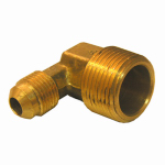 Larsen Supply 17-4933 3/8FLx1/2MPT Brass Elbow