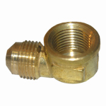 Larsen Supply 17-5031 3/8FLx3/8FIP Brass Elbow
