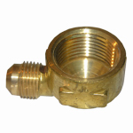 Larsen Supply 17-5033 3/8FLx1/2FIP Brass Elbow