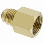 Larsen Supply 17-5847 Brass Adapter, 1/2 Female Flare x 3/8-In. Male Flare