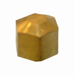 Larsen Supply 17-6181 Pipe Fitting, Compression Cap, Brass, 1/4-In.