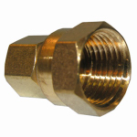 Larsen Supply 17-6637 Pipe Fitting, Brass Adapter, 3/8 Compression x 1/2-In. FPT