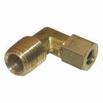 Larsen Supply 17-6911 1/4CMPx1/4MPT Brass Elbow