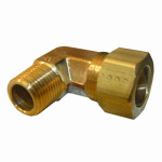 Larsen Supply 17-6955 5/8CMPx1/2MPT Brass Elbow