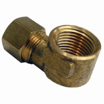 Larsen Supply 17-7033 3/8CMPx1/FPT Brass Elbow