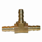 "Larsen Supply 17-7403 1/4"" Brass Hose Barb Tee"