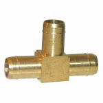 "Larsen Supply 17-7405 3/8"" Brass Hose Barb Tee"