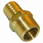 Larsen Supply 17-7719 1/4MPTx1/2 Barb Adapter