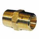 Larsen Supply 17-8669 Pipe Fitting, Hex Nipple, Lead-Free Brass, 3/4-In. MIP