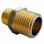 Larsen Supply 17-8753 Pipe Fitting, Hex Nipple, Lead-Free Brass, 3/4 MIP x 1/2-In. MPT