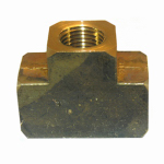 Larsen Supply 17-9105 Pipe Fitting, Brass Tee, Lead-Free, 1/4-In. FPT
