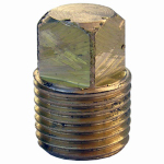 Larsen Supply 17-9173 1/8MPT Brass Square Plug