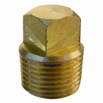 "Larsen Supply 17-9177 3/8""MPT Brass Square Plug"
