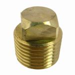 Larsen Supply 17-9179 Pipe Fitting, Square Head Plug, Lead-Free Brass, 1/2-In. MPT