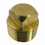 "Larsen Supply 17-9181 3/4""MPT Brass Square Plug"