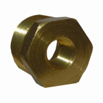Larsen Supply 17-9245 Pipe Fitting, Reducing Hex Bushing, Lead-Free Brass, 3/8 Male x 1/4-In. FPT