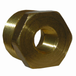Larsen Supply 17-9249 Pipe Fitting, Reducing Hex Bushing, Lead-Free Brass, 1/2 Male x 1/4-In. FPT