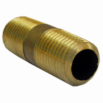 Larsen Supply 17-9353 Pipe Fitting, Brass Nipple, Lead-Free, 1/4 MPT x 1-1/2-In. Short