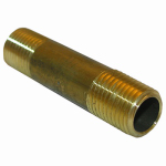 Larsen Supply 17-9355 1/4MPTx2L Brass Nipple