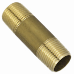 Larsen Supply 17-9405 3/8MPTx2L Brass Nipple