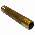 Larsen Supply 17-9413 3/8MPTx4L Brass Nipple