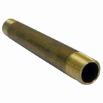 Larsen Supply 17-9417 3/8MPTx5L Brass Nipple