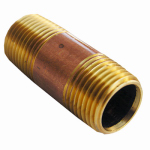 Larsen Supply 17-9445 1/2MPTx2L Brass Nipple