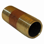 Larsen Supply 17-9449 1/2MPTx3L Brass Nipple