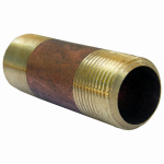 Larsen Supply 17-9489 Pipe Fitting, Brass Nipple, Lead-Free, 3/4 MPT x 3-In. Long